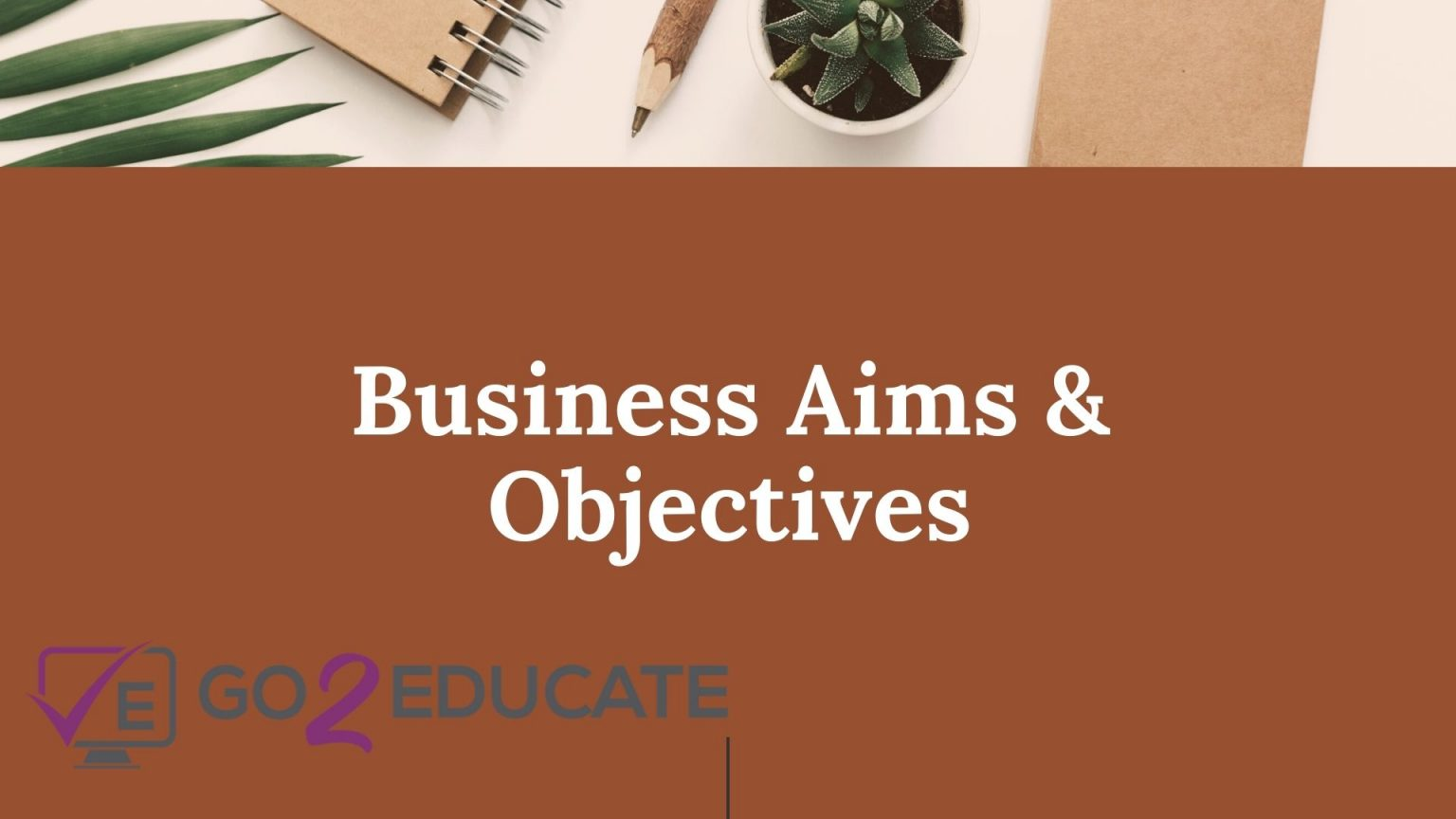 Business Aims & Objectives Home